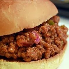 Sloppy Joes ~ Five stars and an A+. This is the perfect basic sloppy joes recipe. I won't be buying the canned stuff anymore,,