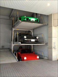 Awesome car storage in garage! & 10 best Car Storage images on Pinterest | Good ideas Car storage ...