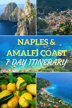 Discover how to spend 7 days in Naples and the Amalfi Coast with this free guide, covering all the top sites including essential tips, maps and photos. See how to spend a week on the Amalfi Coast! Almafi Coast Italy, Italy Coast, Amalfi Coast, Italy Honeymoon, Italy Vacation, Italy Trip, Honeymoon Destinations, Pompeii, Sorrento Italy