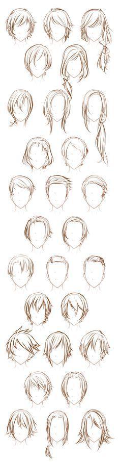 Male OC hairstyles by Lunalli-Chan.deviantart.com on @DeviantArt