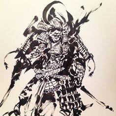 More Samurai sketches