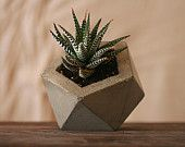 Concrete Geodesic Planter Natural Grey