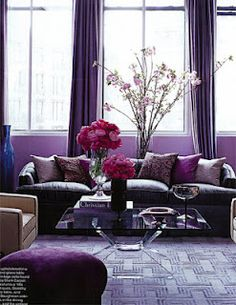 Mixing up the hue can make your purple choice feel more sophisticated and classic...