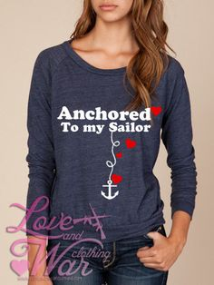 Anchored to my Sailor  military support slouch by Loveandwarco, $36.00