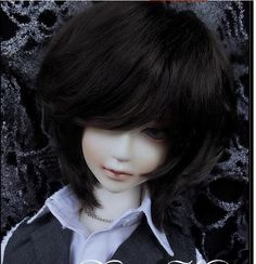 "1/3 8-9"".BJD.SD Pullip Dal LUTS BLYTH Doll BROWN short wig hair kids toy gift"