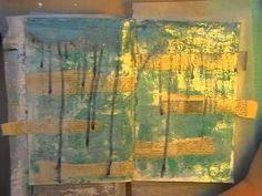 Art Journal Background techniques using Helmar. - YouTube