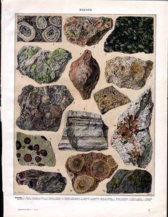 """Vintage French Encyclopedia set called ""Nouveau Larousse Illustre"" published in the 1930's in Paris France"" #rocks"