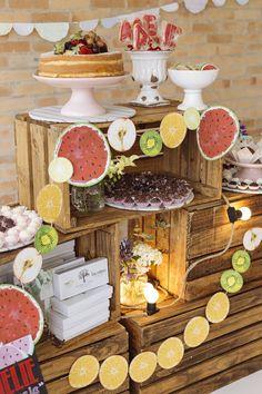 Cake + Sweets + Decor from a Fruit Stand Birthday Party via Kara's Party Ideas   KarasPartyIdeas.com (15)