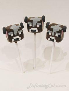 Minecraft Cow Cake Pops