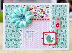 Happiness, Smiles, Spring Card