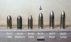 Resultado de imagem para 9mm ammo vs 9mm makarov