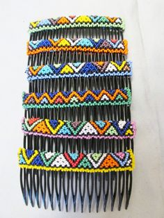 Shared Treasures Boutique - African Zulu Bead Large Hair Comb - Handmade in South Africa, $6.69 (http://www.sharedtreasuresboutique.com/african-zulu-bead-large-hair-comb-handmade-in-south-africa/)
