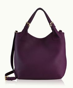 OLIVIA SHOPPER Wine Pebble Grain Hand-worked natural pebbled leather with a supple hand drapes this striking silhouette - a sophisticated, slouchy design with detachable cross-body strap. Wine Purse, Wine Tote, Tote Handbags, Leather Handbags, Tote Bags, Leather Bags, Leather Crossbody, Crossbody Bag, Bags