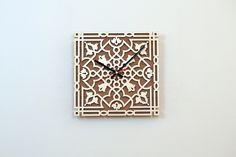 28cm Holz Wanduhr / Home Decor / Haushaltswaren  von JVKWOODWORK auf DaWanda.com