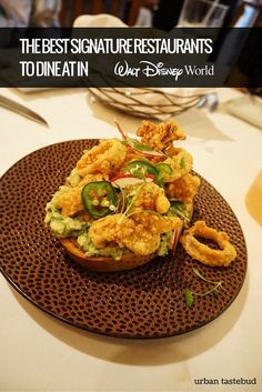 Stellar service, delicious food, and beautiful settings are the epitome of signature restaurants. Here are the best signature restaurants at Disney World. Best Disney World Restaurants, Disney World Food, Disney World Planning, Walt Disney World Orlando, Walt Disney World Vacations, Disney Resorts, Disney Signatures, Cool Signatures, Disney Character Dining