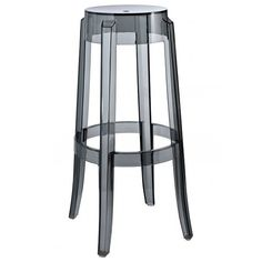 Kartell Charles Ghost Bar Stools by Philippe Starck Contemporary Outdoor Bar Stools, Modern Outdoor Furniture, Modern Bar Stools, Cool Furniture, Contemporary Furniture, Lounge Furniture, Philippe Starck, Patio Bar Stools, Kitchen Counter Stools