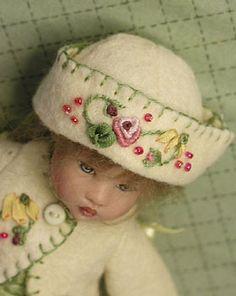 doll coat and hat  - beautiful finishing work.