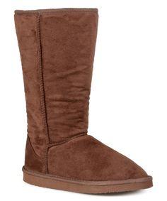 Look at this #zulilyfind! Journee Collection Brown Classic Plush Boot by Journee Collection #zulilyfinds