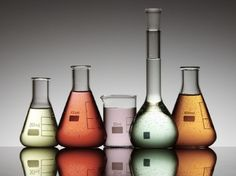 Laboratory Flasks - Flask, Orange, Coloured, Container, Liquid, Peach, Glass, Orange Green, Coloured Glass, Orange Abstract
