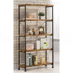 Bring Ideal Casual Style To Your Home With This Barritt Office Collection By Coaster Furniture The Bookcase Finished In An Antique Nutmeg And Black