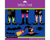 Witch Feet Clipart - Digital Clip Art Graphics for Personal or Commercial Use