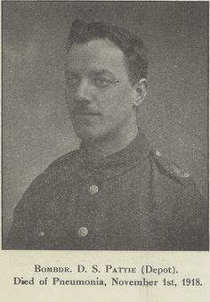 D Pattie: one of the many men from our York factory who gave their lives in the First World War.