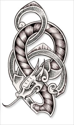 Celtic Dragon Knot by ~kimmers-tattoos on deviantART