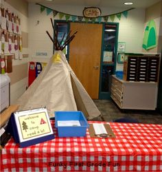 "Host a week long event of reading fun. Turn your classroom into a ""Camp Read a Lot"" and fill your week with different reading days, and add a little ambiance. School Themes, Classroom Themes, Classroom Activities, School Fun, Summer School, School Stuff, School Ideas, Classroom Organization, Classroom Management"