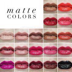 Current LipSense Matte colors available