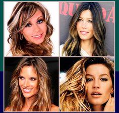 As mechas estão de volta fazendo a cabeça de muitas mulheres, clarear as mechas ao redor do rosto é forte tendência e ajuda a deixar mais iluminado o rosto. #mechas #look #tendencia #verao #fios #hair #iluminar #rosto #clarear #loucasporcabelo #tutanat