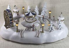 Vtg Trendmasters Christmas Magic Carnival Winter Wonderland Music Animated Skate #Trendmasters