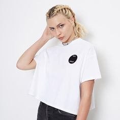 White T-shirt in Oversize Fit and Not Today patch | Bundy & Webster