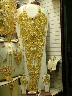Window shopping in the Gold Souk in Dubai