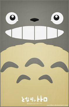 Totoro Poster - Smiling - Nortiker on deviantART Hayao Miyazaki, Totoro Poster, Manga Anime, Anime Art, Japon Tokyo, Studio Ghibli Movies, Girls Anime, Film Studio, Howls Moving Castle