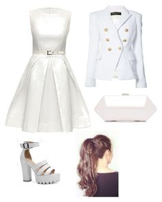 """#77"" by cecilie-monica-nrskov-pedersen on Polyvore featuring Balmain and Lattori"
