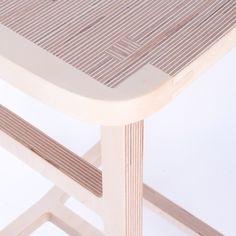 Bracket Stool by Pierre Guibert - Design Milk Modern Home Furniture, Online Furniture, Furniture Making, Furniture Design, French Furniture, Plywood Table, Plywood Furniture, Plywood Art, Plywood Projects