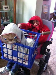 Wheelchair costume idea E.T.