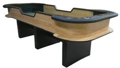 10 foot craps table for dice control, oak finish
