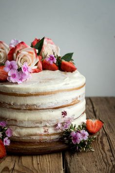 Vegan Vanilla and Berry Layer Cake