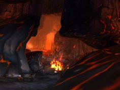 volcanic cave under Mount Hyjal (I think)