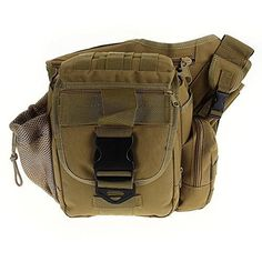TOMOUNT Outdoor Sports Shoulder Strap Military Tactical Utility Bag Tan *** Click image to review more details.