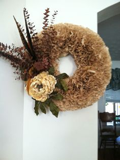 My first Coffee filter wreath 2015