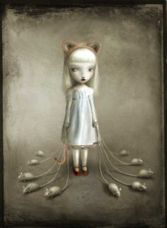 """""""Katherine"""" from """"Babes in Toyland"""" Exhibition by Nicoletta Ceccoli. [Pop Surrealism]"""