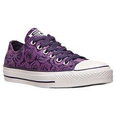 Designer Clothes, Shoes & Bags for Women Purple Sneakers, Lace Sneakers, Purple Shoes, Lace Up Shoes, Sneakers Fashion, Me Too Shoes, Purple Converse, Purple Lace, Converse Shoes