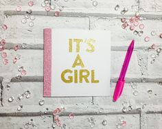 Handmade New Baby Cards, Congratulations On The Birth Of Your Baby, Baby Shower Gifts, Cards for New Mums, Its A Girl, Its A Boy by CreationsbyLindsay17 on Etsy https://www.etsy.com/listing/510631476/handmade-new-baby-cards-congratulations