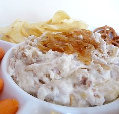 Fried Onion Dip - Barefoot Contessa....our family ALL-time favorite!!!  *You will never buy onion dip again!!