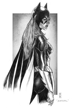 Batgirl Pencil by *AdmiraWijaya