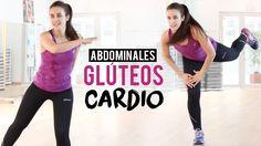 Ejercicios de abdominales, glúteos y cardio