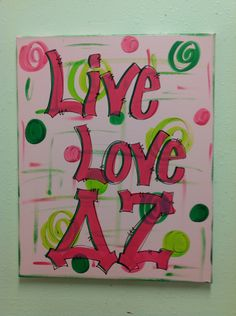 Delta Zeta painting...just change the letters
