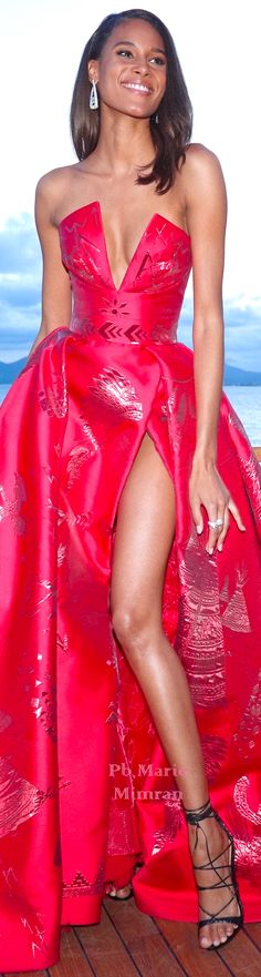 Marie Mimran- Cindy Bruna in Zuhair Murad Cannes 2018 Award Show Dresses, Gala Dresses, Event Dresses, Nice Dresses, Runway Fashion Outfits, Look Fashion, Beautiful Gowns, Dress Me Up, Dress To Impress